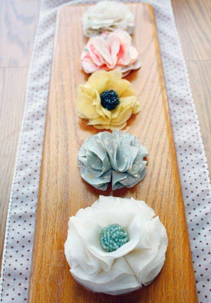 ▷ 1001 + Ideen, wie man tolle Stoffblumen macht #fleursentiss …