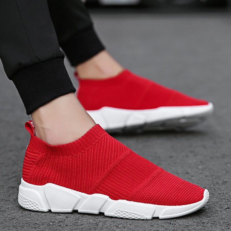 Mens Athletic Sneakers Casual Outdoor Sports Running Socks Shoes Mesh Breathable
