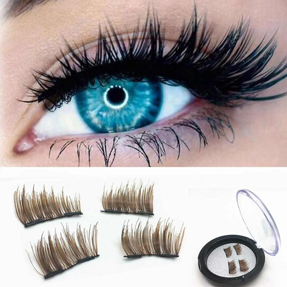 1 Pair Natural Thick 3d Magnetic Mink Eyelashes Wish List
