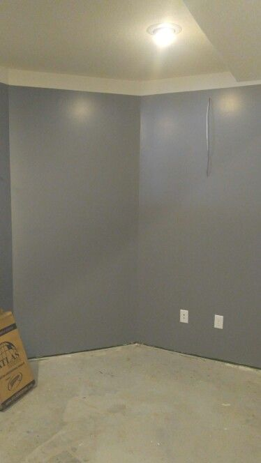 Wall Color Is Gray With The White Border On Top Wall Color