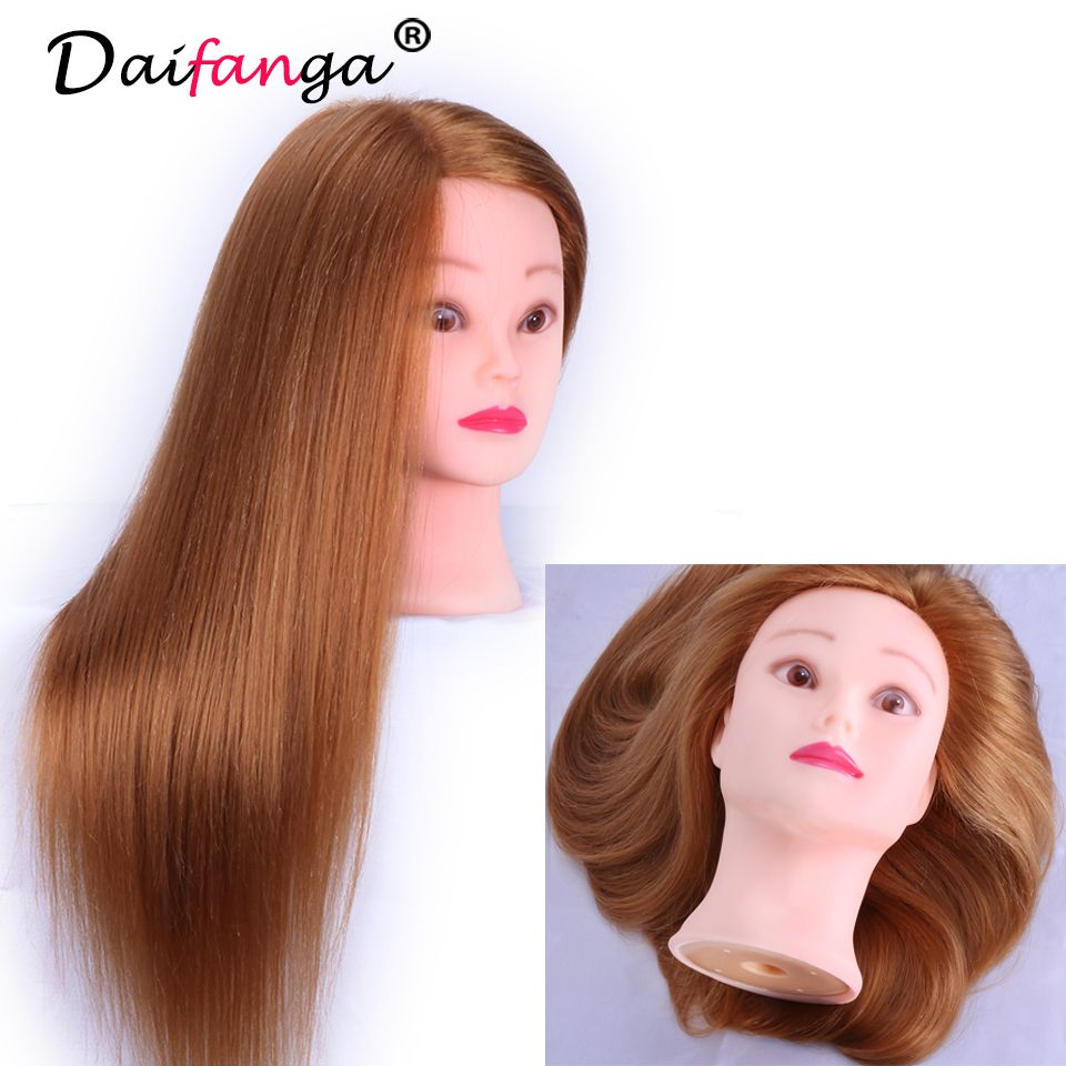 Golden 70 Real Hair Mannequin Head Can Curl Hairdressing Doll Wig Heads Professional Hair Styling Head Maniki Hair Mannequin Doll Wigs Professional Hairstyles