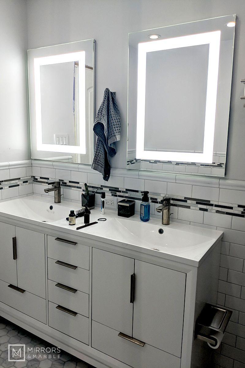 Lighted Led Bathroom Mirror Medicine Cabinet 24 Led Mirror