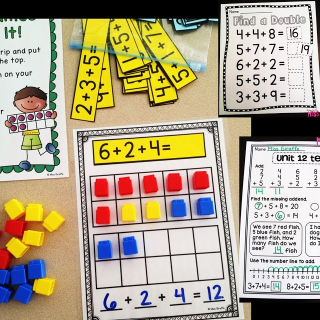 First Grade Math Ideas for the Entire Year! First grade