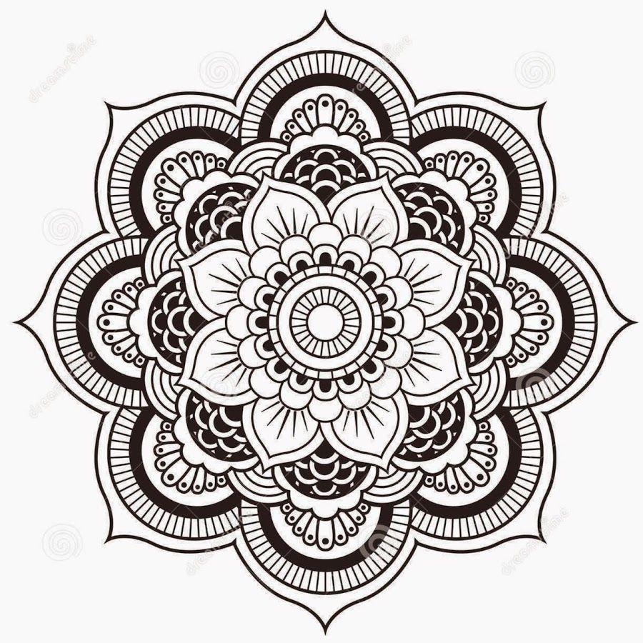 Black Mandala Design Tattoo Stencil  Tetovanie