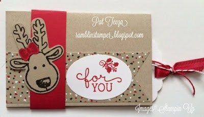 Ramblin Stamper: Quick Gift Card Holder for Christmas