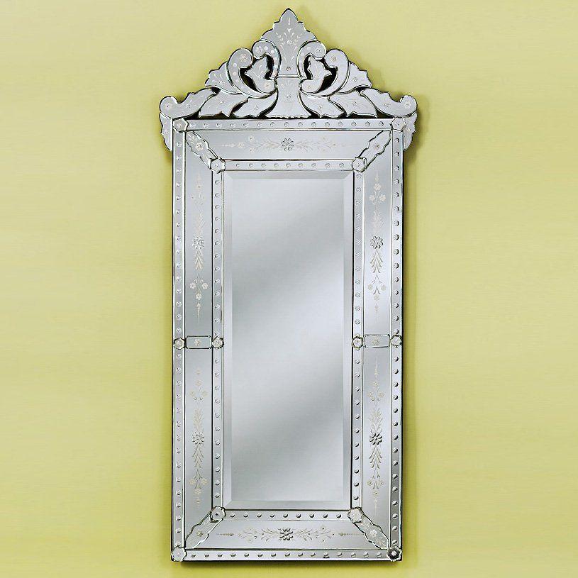 Celia Venetian Wall Mirror 28w X 60h, Long Narrow Venetian Mirror