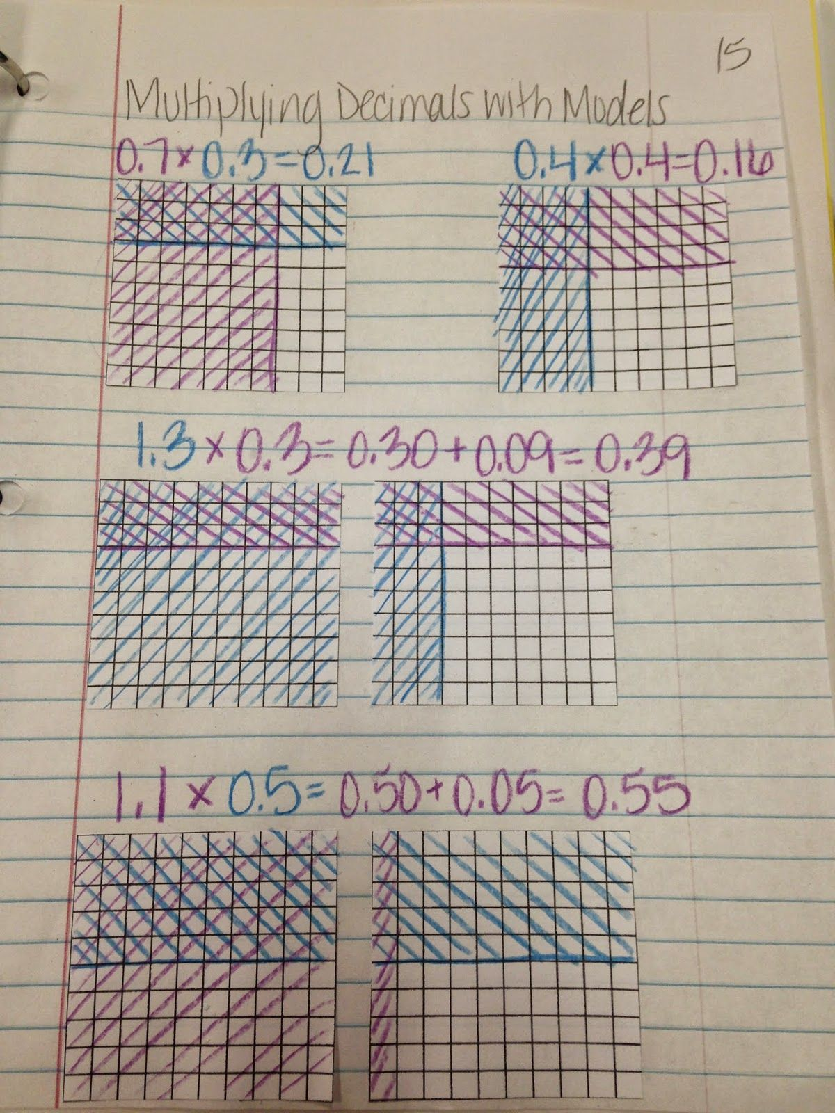Where Ms Green S Math Grows Multiplying Decimals With Models Oh How I Love Sheet