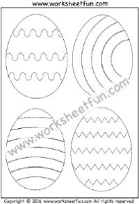 Easter Worksheets – Easter Eggs -Tracing & Coloring