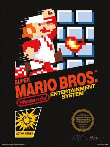 Super Mario Bros. - NES Cover Impressão de alta qualidade