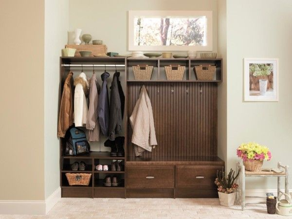 Mudroom Storage Bench And Coat Rack : Furniture magnificent entry storage bench with hooks including diy