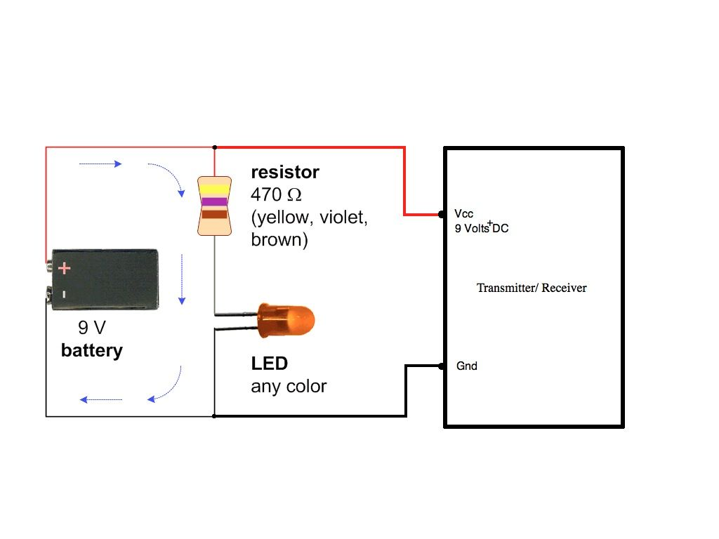 Led Wiring Diagram 9v 2000 Mitsubishi Montero  Circuit For 9 Volt Transmitter