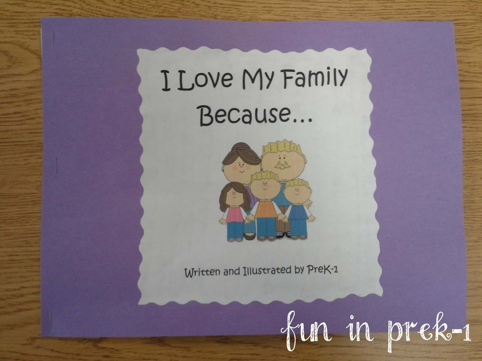 Make A Book With Each Child About Their Family And Why