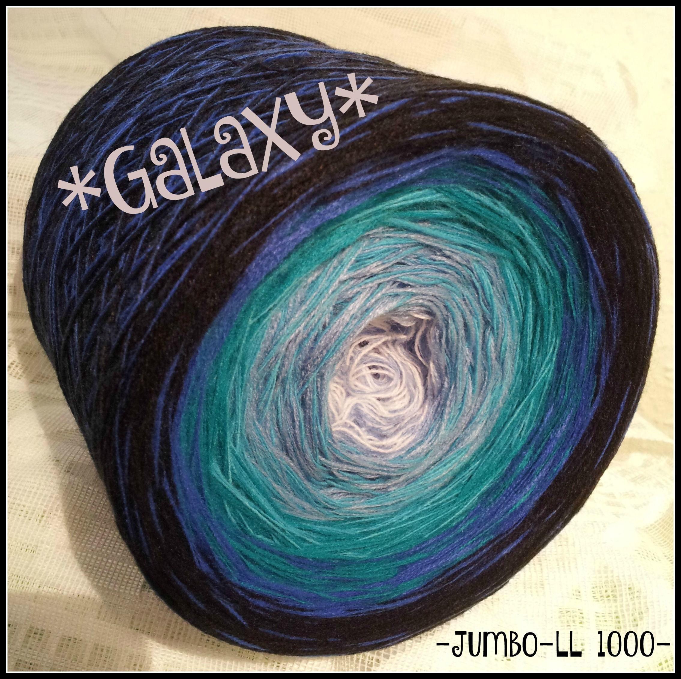 Petrol Blau Wandfarbe: Galaxy Jumbo 1000 LL Hochbauschacryl 3 Fäden, 6 Farben