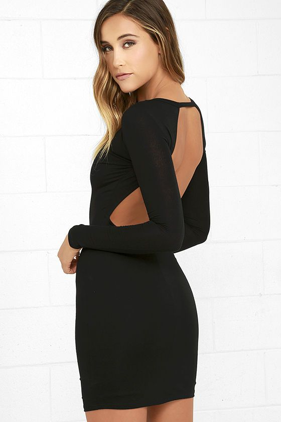 Here To Party Black Long Sleeve Bodycon Dress In 2018 Cute Clothes