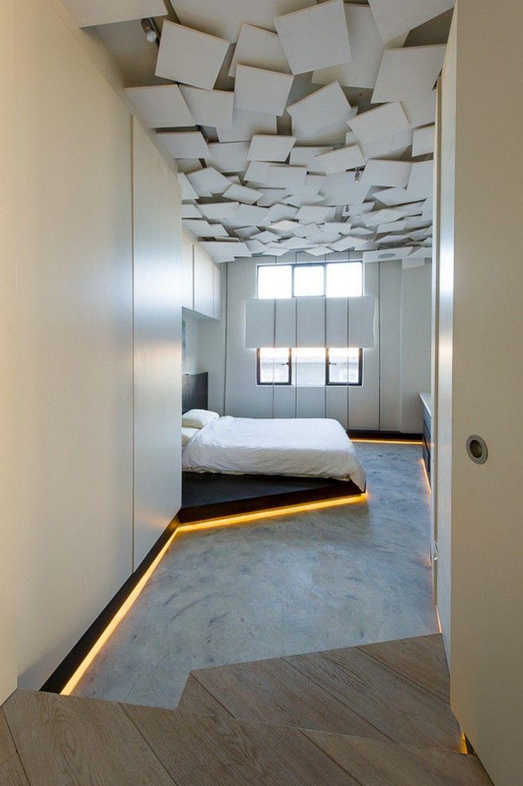 faux plafonds originaux et plafonds color s en 30 id es inspirantes pour un int rieur plein de. Black Bedroom Furniture Sets. Home Design Ideas