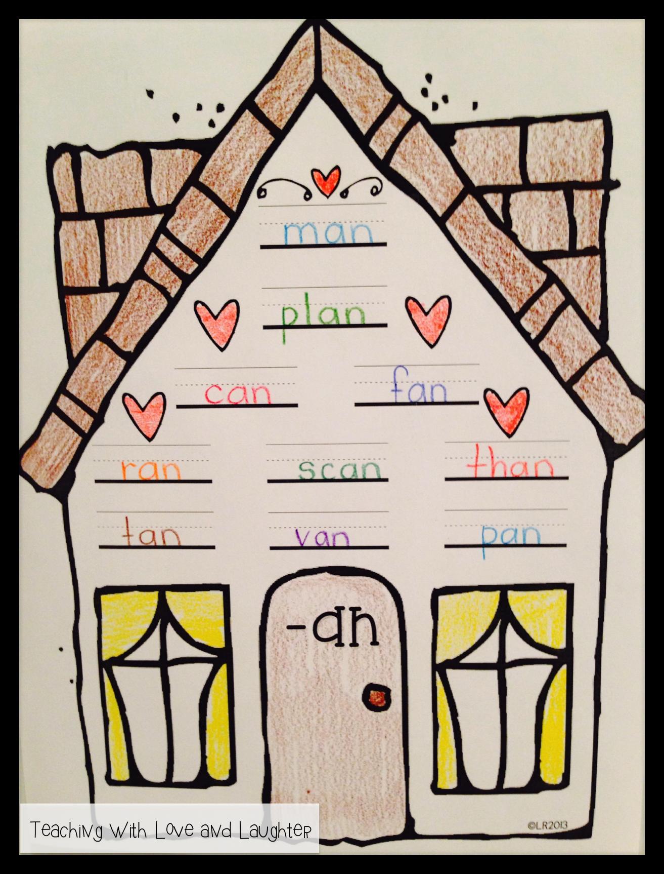 Word Family Houses   School Ideas   Pinterest   Lengua, Escritura y ...
