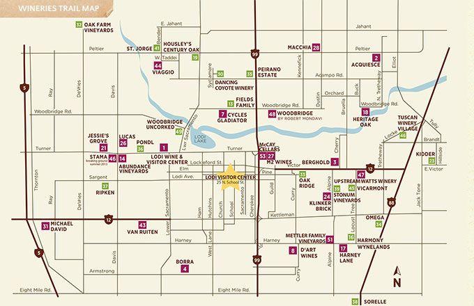 Lodi Wine Trail Map Wine Pinterest Wine Trail Maps And