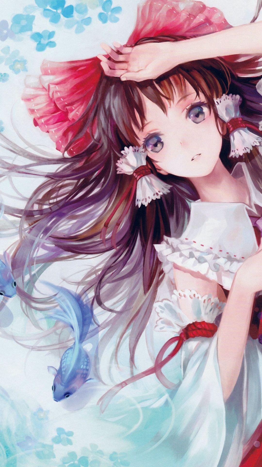 Anime Art Paint Girl Cute iPhone 6 plus wallpaper ศิลปะ