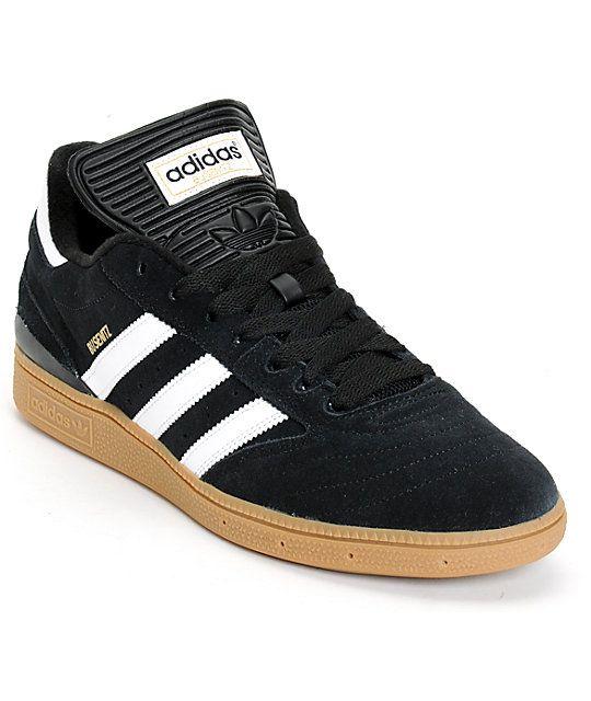 adidas Busenitz Pro Black, White, & Gum Shoes | Zumiez