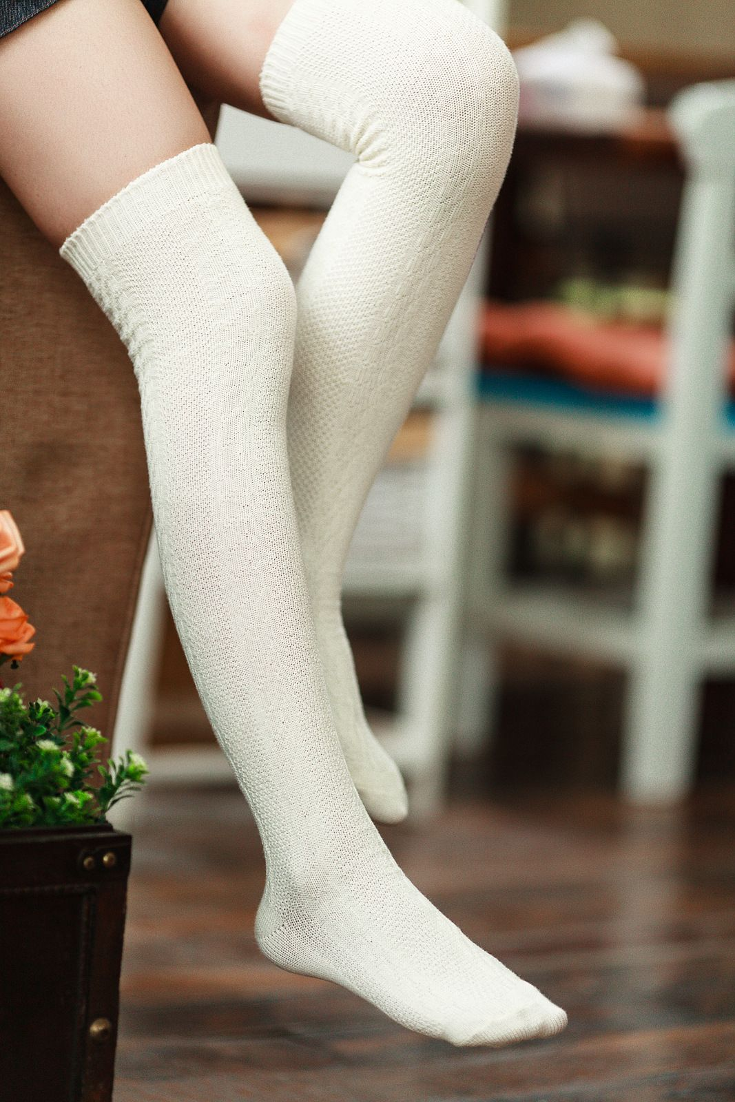 b87ac0394da IVORY CABLE KNITTED THIGH HIGH BOOT SOCK Give your legs the perfect touch  of girly flair