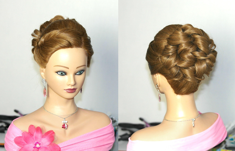 Wedding prom hairstyle for long hair. Прическа на выпускной ...