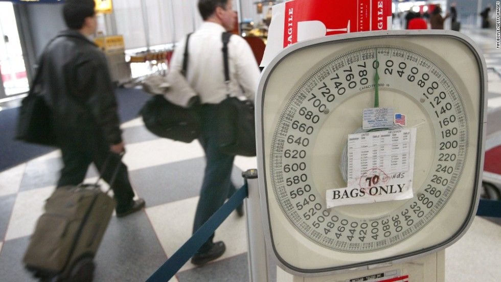 Fliers are used to weighing heavy luggage before a flight. How will they react to stepping on a scale themselves?