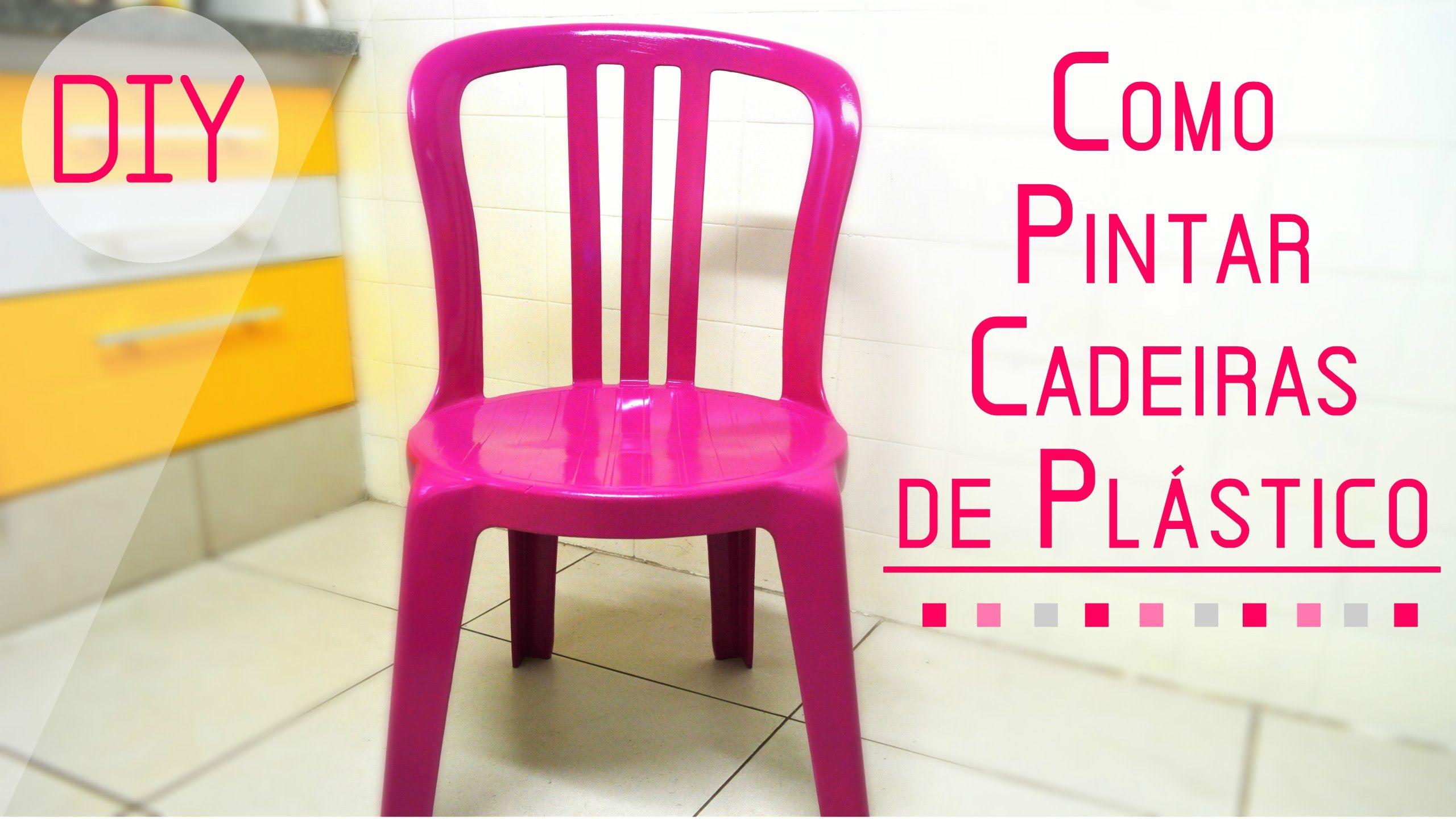 Como pintar cadeiras de pl stico pinteres - Como pintar botellas de plastico ...