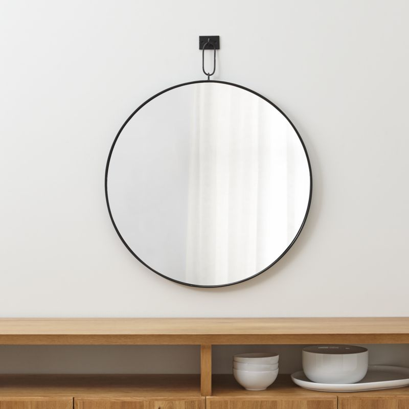Shop Odin Pendant Mirror. Antiqued Iron And A Single Link Suspension Give  This Timeless Round Mirror Its Modern Industrial Edge.