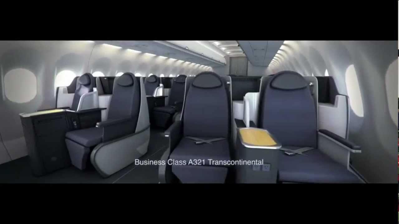 American Airlines new aircraft cabin interior tour - Airbus A321 and ...