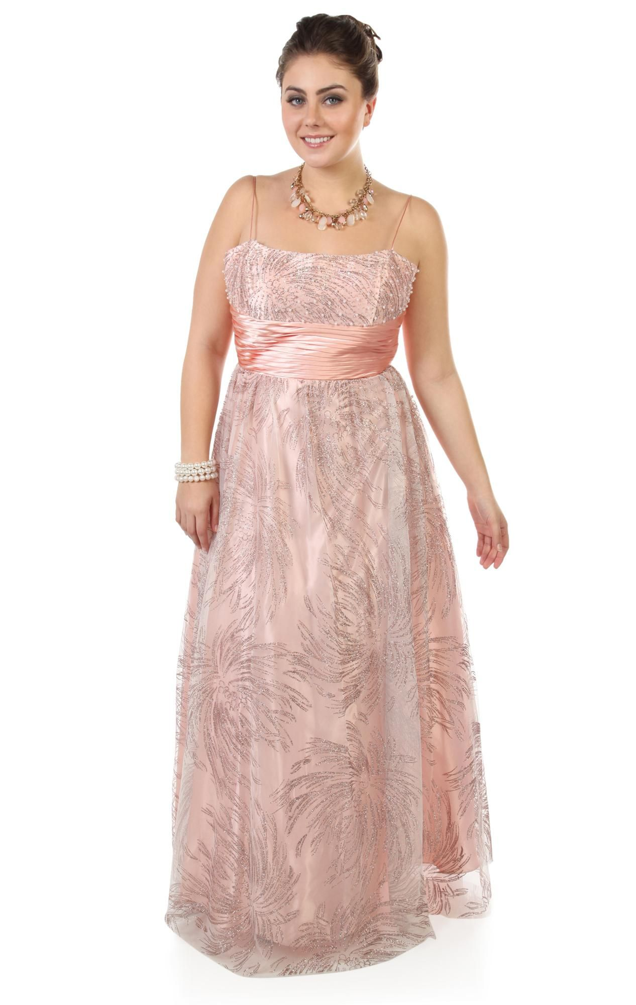 Dress for plus size mother of the bride