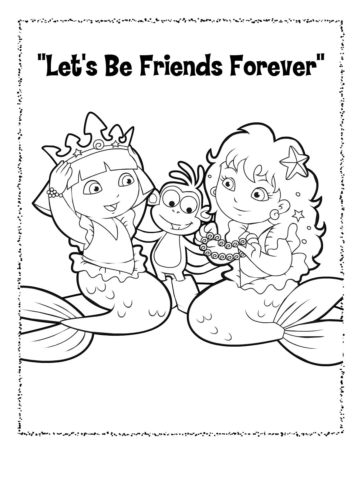 Pin By Tanja Mayan On Kleurplaten Dora Color Friends Forever
