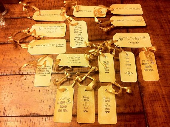 16 Vintage wishing tree tags with love quotes ready by juliatruett, $20.00