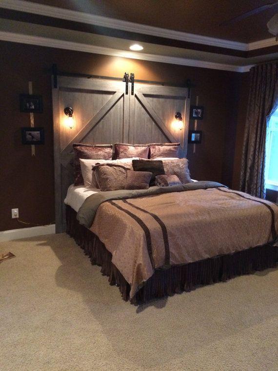 13 Amazing Rustic Bedroom Ideas and Designs | Barn door headboards ...