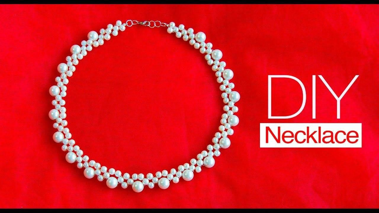 9b45ec16724c How to make pearl bridal necklace