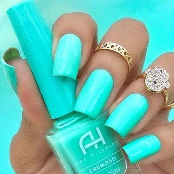Pin de Daly Glez en #Nails | Pinterest | Menta