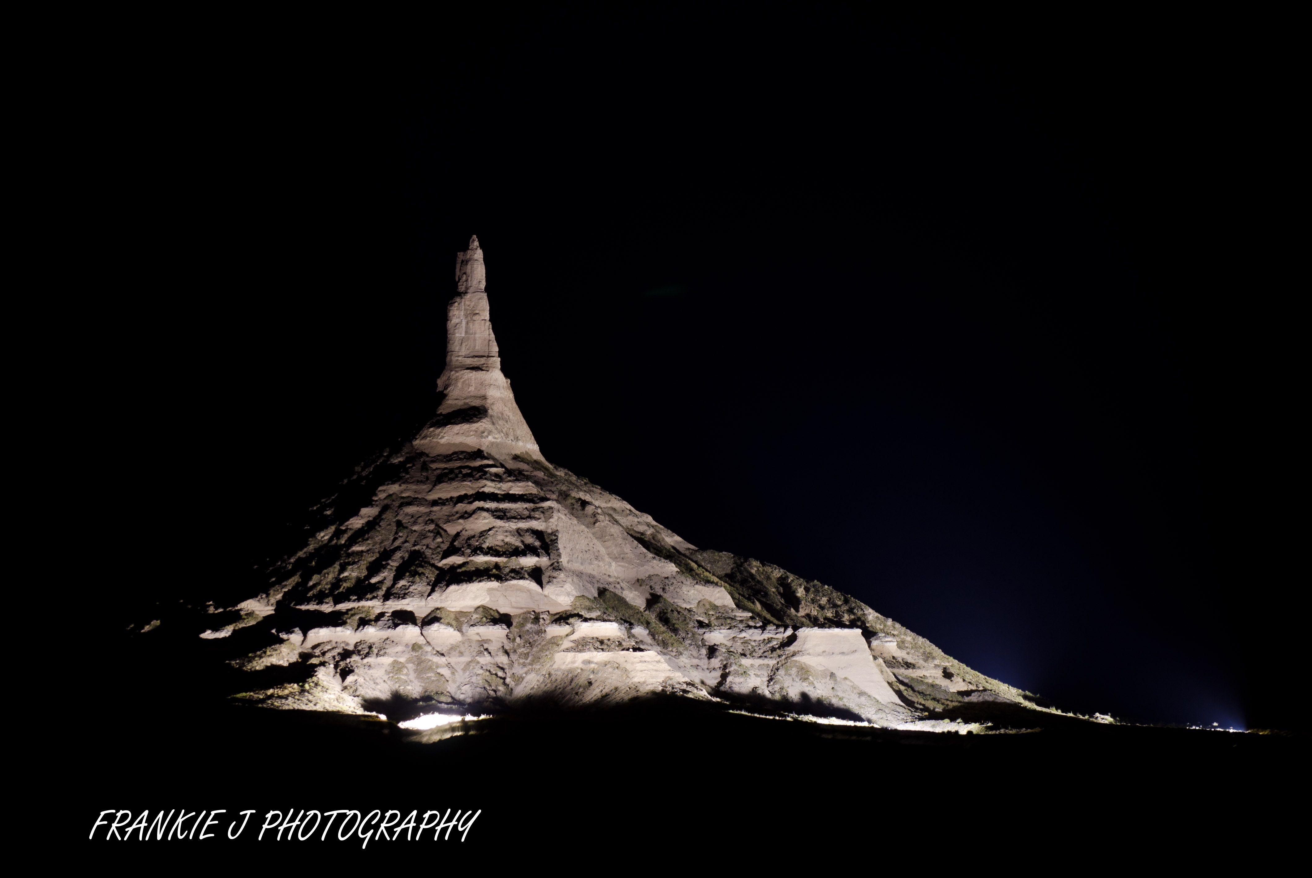 Chimney rock at night natural landmarks landscape