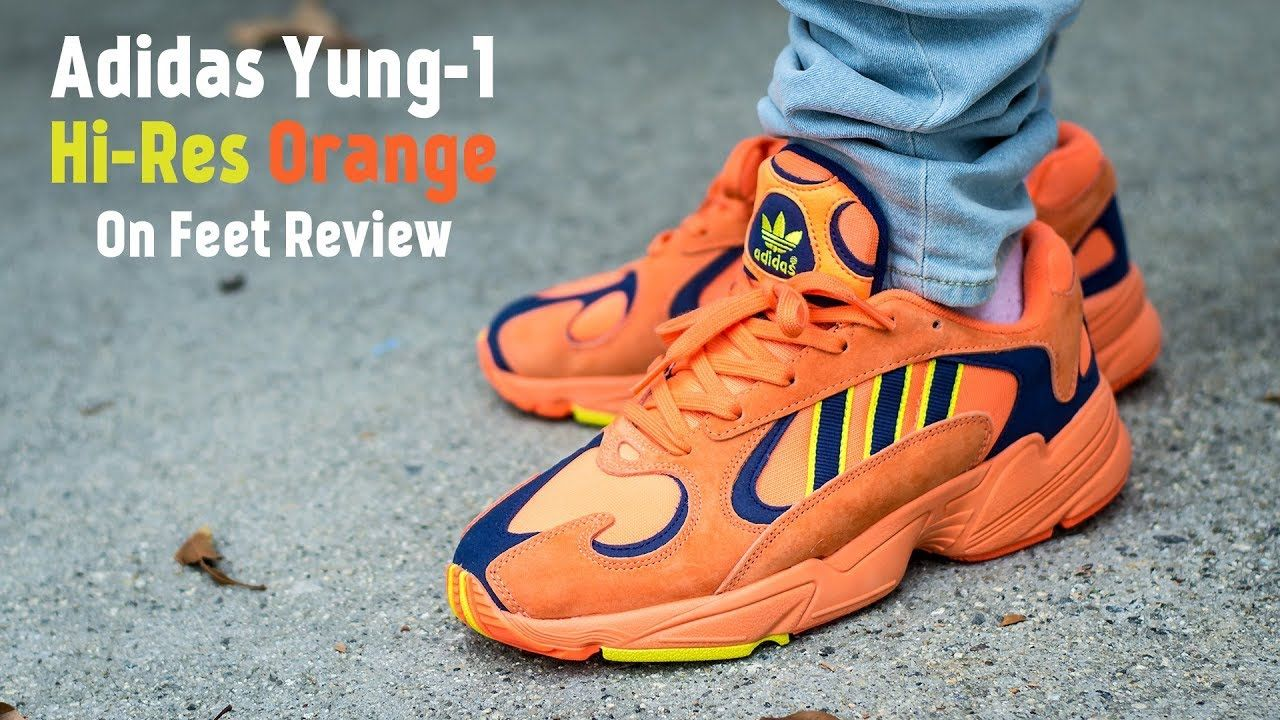 e25b173612a92 Adidas Yung 1 Hi Res Orange On Feet Sneaker Review | Sneakers in ...