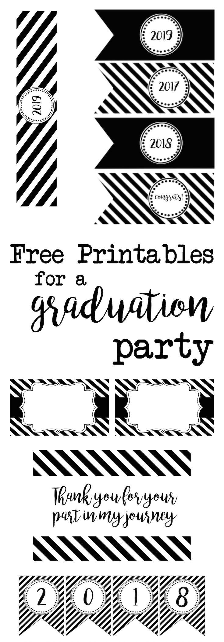 Graduation Party Free Printables | Free printables, Free and Grad ...