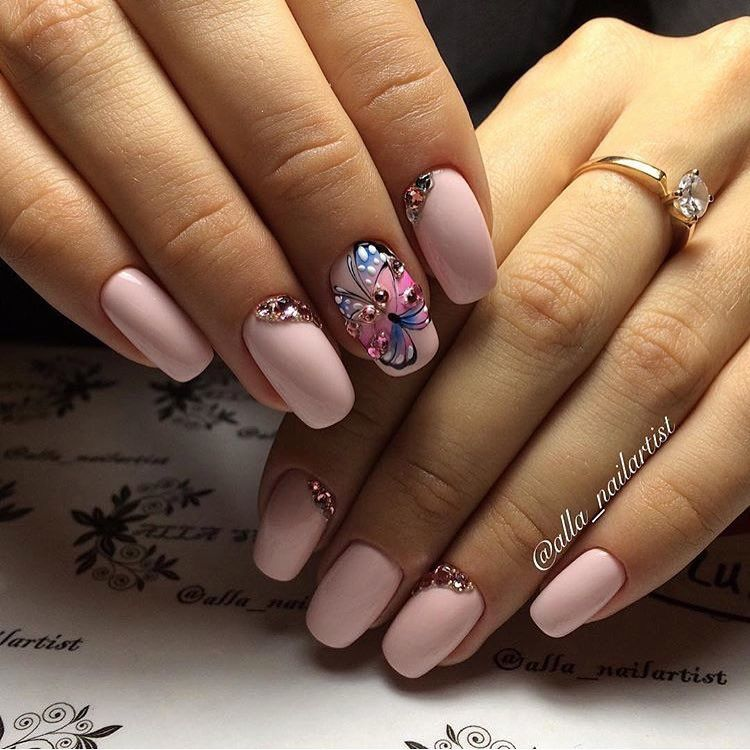 Nail Art #2617 - Best Nail Art Designs Gallery   Butterfly nail art ...