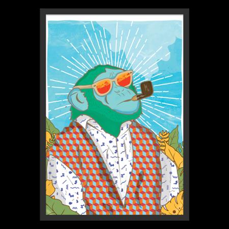 Poster Monkey Junkie de @melampus | Colab55
