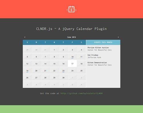 15 jQuery Event Calendar Plugins for Your Web Project - http - event calendar