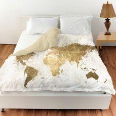 Mapamundi White Gold Duvet Cover