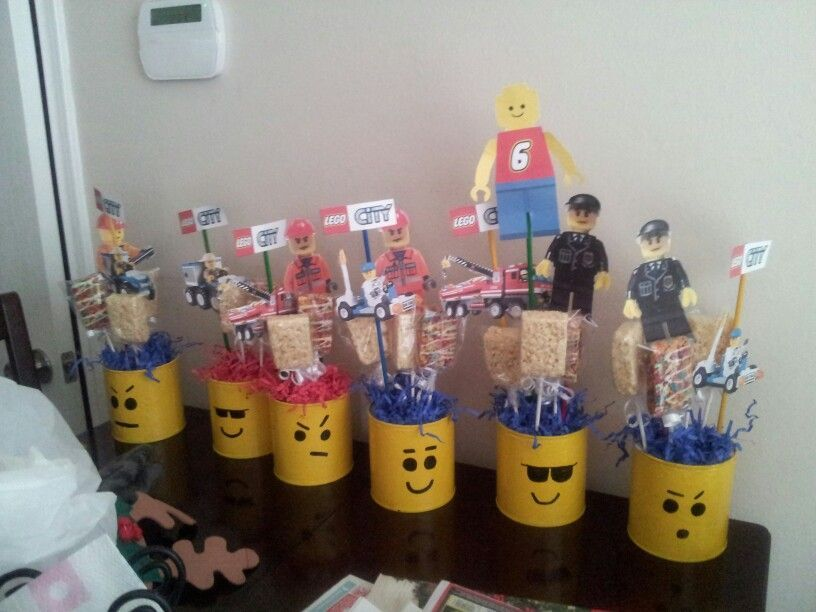 Lego centerpieces made by me handmade pinterest
