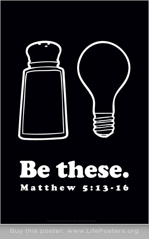 BE THESE - Inspirational christian art poster print for youth, churches,  college students,