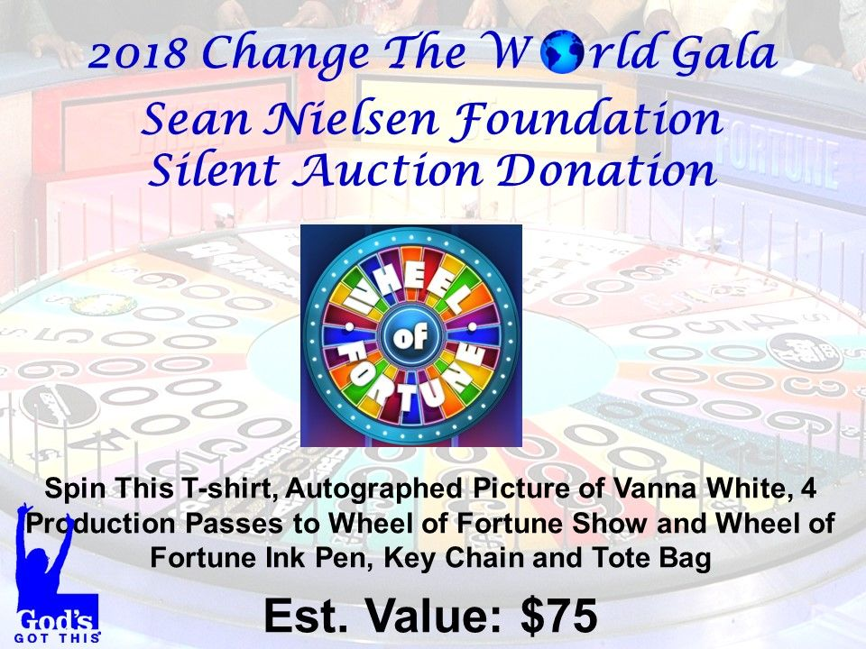 Pin by SeanerFoundation on 2018 Gala Donations Wheel of