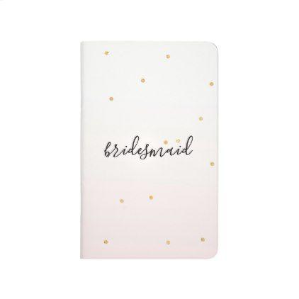 Blush Pink Gold Confetti Sparkle Ombre Bridesmaid Journal Gold - confeti
