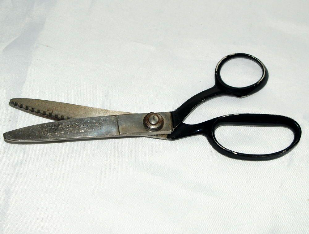 Vintage wiss pinking shears model c new jersey usa patent