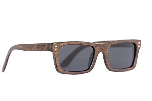 Proof Eyewear Unisex Cascade Black Maple Handcrafted Water Resistant Wooden Sunglasses  Stained  52 mm -- Learn more by visiting the image link.Note:It is affiliate link to Amazon.