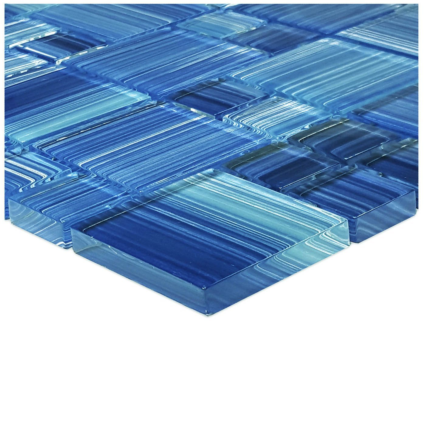 Caribbean Blue Mixed Glass Tile Glass Pool Tile Tiles Swimming Pool Tiles