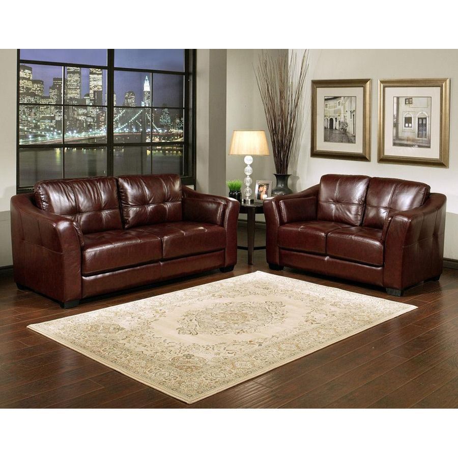 Burgandy Leather Couch Floine